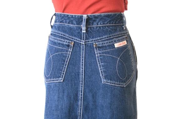 Calvin Klein - Jean Skirt - Size 2 - Vintage Brooke Shields Type