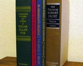 Instant Collection, Poetry Vintage Frost Poe McKuen Poems, Book Bundle, Rainbow