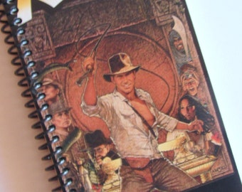 VHS tape Carton NOTEBOOK Raiders of the Lost Ark Recycled into a Notebook or Journal Harrison Ford (we love you!!)