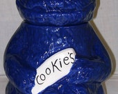 Cookie Monster Cookie Jar-Ceramic-Handpainted (Signed)