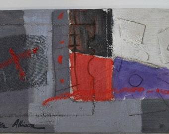 Summer Dusk - an original oil/mixed media painting
