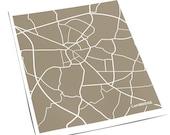 Cambridge, England City Map Line Print / United Kingdom UK Poster Art / 8x10 Digital Print / Personalized colors