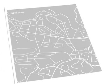 Reykjavik City Map Poster / Iceland Art Print Street Map / 8x10 Digital Print / Choose your color