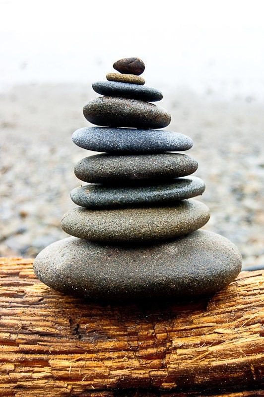 In Balance Cairnes Stacked Rocks on Washington by TerraVision