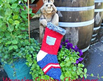 Christmas Stockings, Rustic Wrangler Cowboy Sock, Personalized