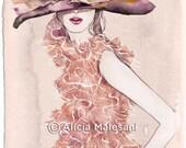 Dior dress - GICLEE fine art print. A4 or 8x11,5 inches