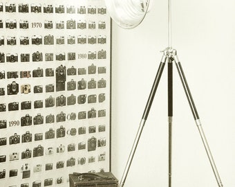Room Accent/Mirror/Bowl on Tripod made from Vintage Photography Equipment - Tilt It Your Way