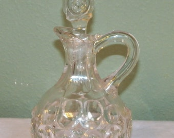 Victorian EAPG Glass CRUET Bellaire Goblet Co. Concave circle pattern stopper