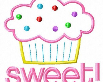 Cutestuff Designs Cupcake Machine Embroidery Applique design