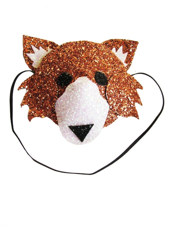 SAMPLE SALE - Orange Glitter Fantastic Mr Fox Fascinator