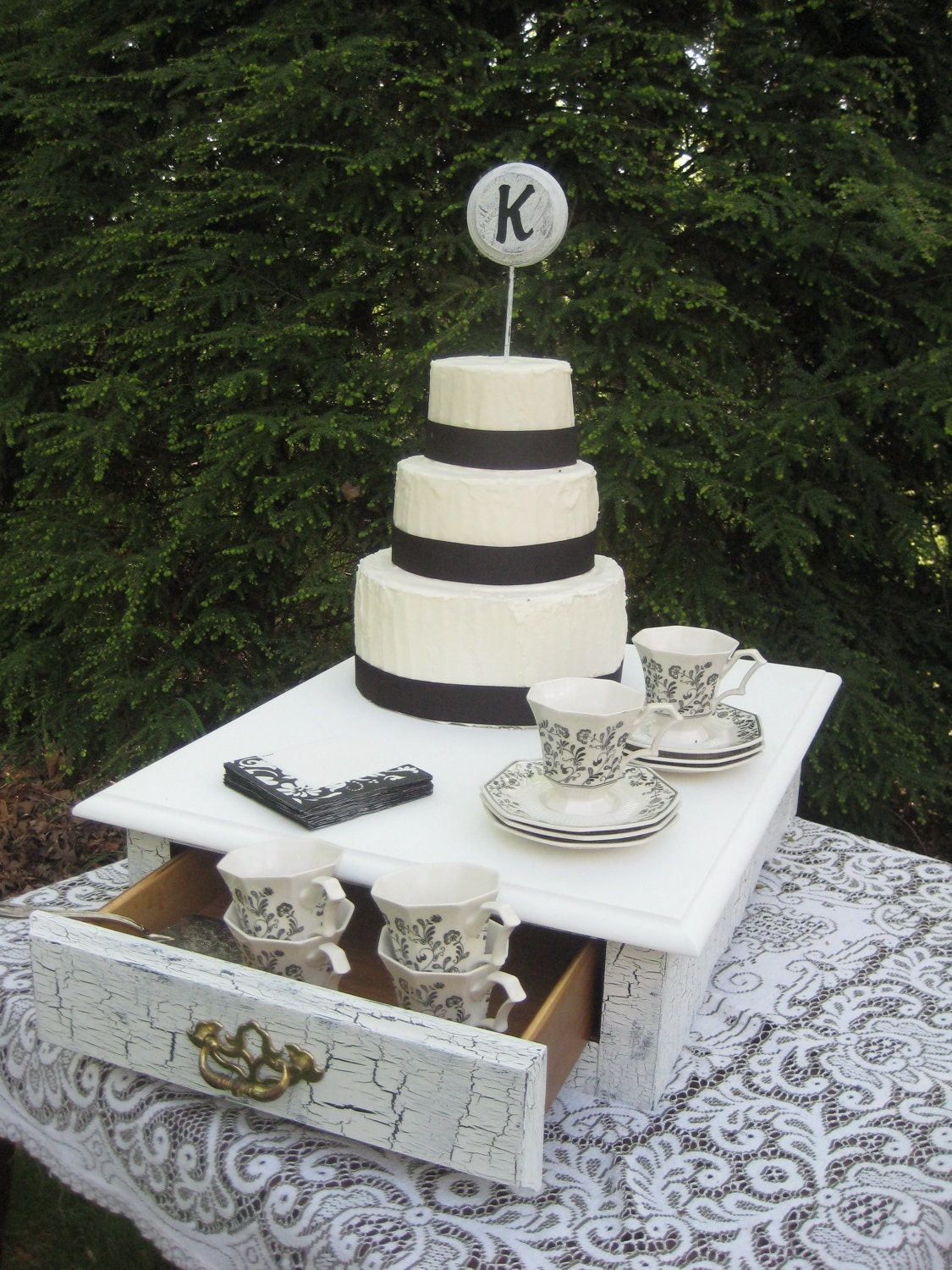 Sale Shabby Chic Wedding Cake Stand Box One Of By