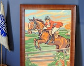 Jumping Horseback Rider Paint by Number