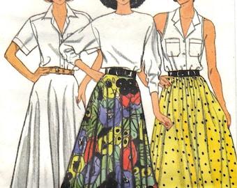 1986 Vintage UNCUT Butterick Plus Size Skirt Pattern