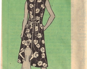 1960s Vintage UNCUT Marian Martin Plus Size Dress Pattern