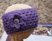 Crochet Headwrap with Flower