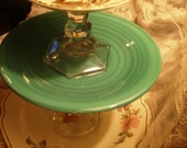 Holiday Winter Vintage Currier & Ives Tiered Plate Dessert Stand