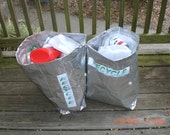 Recycle Bin - with handles -Single layer recycled Coffee Bags