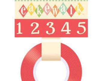 October Afternoon Cakewalk Washi Tape - Numbers -- MSRP 3.80