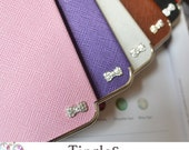 Sweet Princess Sparkle Bow Couture Luxury Designer Inspired Leather Hard Case Silver Frame For iPhone 5S