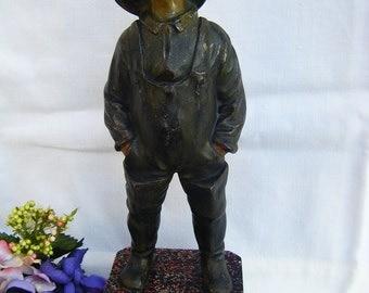 Antique Bronze Boy