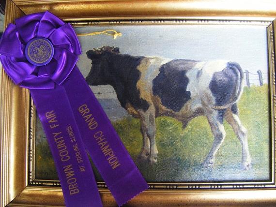 1950's Grand Champion Prize Ribbon, Brown County Fair, Mt Sterling, Illinois
