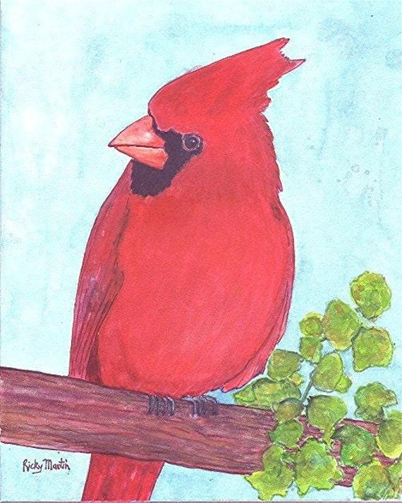 Items Similar To Cardinal Red Bird Child 39 S Room Decor