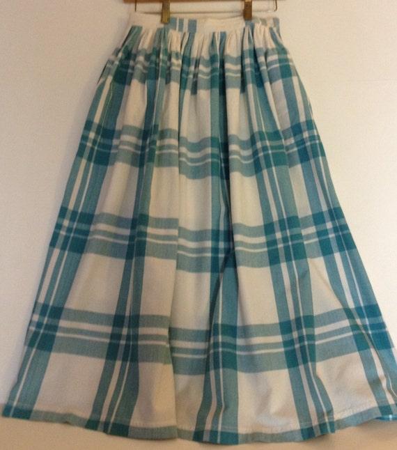 Capucci Creations Plaid Cotton Skirt
