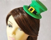 Mini Leprechaun Hat Hair Clip or Headband