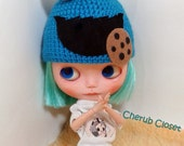 Cute hat Cookie Monster Dal, Blythe.