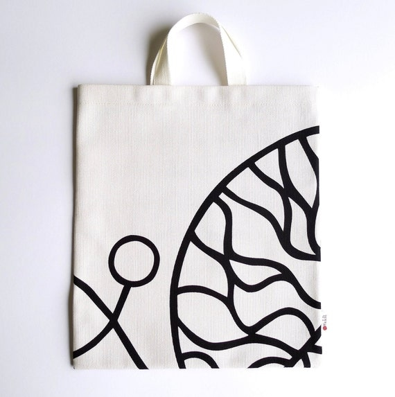 Marimekko Canvas Bag - Bottna - Lily Pad - White