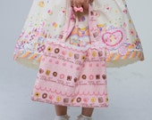 Sweet Lolita Carousel Skirt with Unicorns, Castles, and Sweet Desserts
