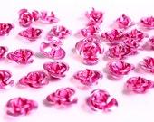 30 12mm pink rose flower aluminum cabochon bead 30pcs (693) - Flat rate shipping