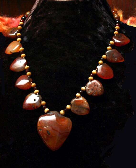 Carnelian Bedouin Necklace, Moroccan, African, Berber, Antique Carnelian Pendant Necklace, Fine Jewelry, Tribal Necklace, Statement Necklace