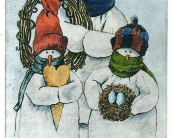 Snowmen Bearing Gifts