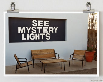 SALE (75% OFF): See Mystery Lights Marfa Texas Fine Art Photograph Print 8 x 12