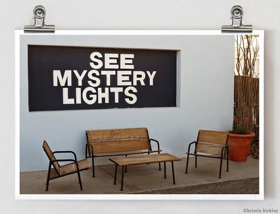 See Mystery Lights Marfa Texas Fine Art Photograph Print 8 x 12