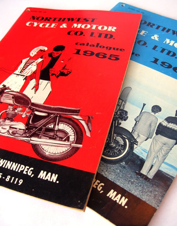 1965 & 1966 Scooter / Motorcycle Catalogs - Vespa, Harley, Triumph, and more