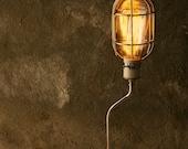 Lamps Industrial Light Wood Lamp Industrial Lighting Cool Gifts for Men Edison Cage Bulb Lamp - Desk Lamp by Luke Lamp Co