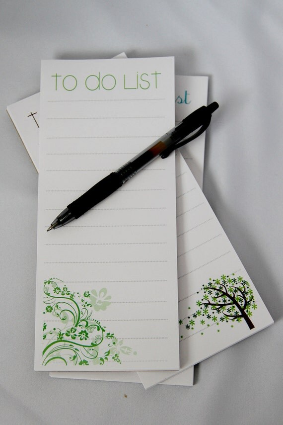 To Do List Magnetic Notepad - set of 3