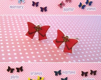 Choose Any Senshi: Sailor Moon Fuku Bow Earrings