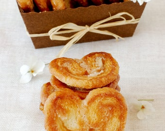 Palmiers - handmade puff pastry, caramelized, crunchy  cookies