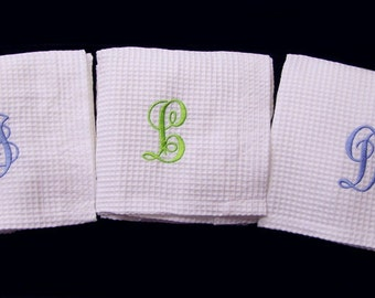 Set of 3 Spa Bath Wraps Personalized Weddings Bridesmaids