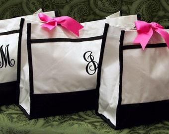 Set of 3 Tote Bags Bridesmaids Bridal Attendants