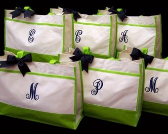 11 Personalized Wedding Tote Bags Bridesmaids Bride Gifts