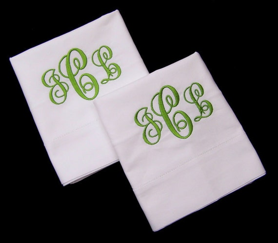 Pillowcases Hemstitched Personalized Gift Bride Groom