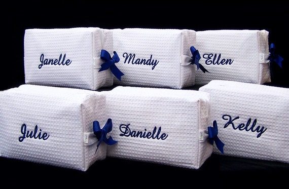 3 Large SPA Cosmetic Bags Personalized Wedding Bridesmaid