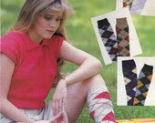 Knit Womens Argyle Socks Vintage Knitting PDF PATTERN