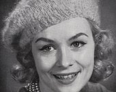 Knit Womens Beret 1960's Vintage Knitting PDF PATTERN