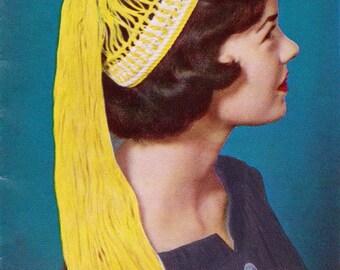 Crochet Pony Tail Hat 1950's Vintage Crocheting PDF PATTERN