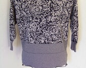 Womens Black and White Sweater/ Size Medium